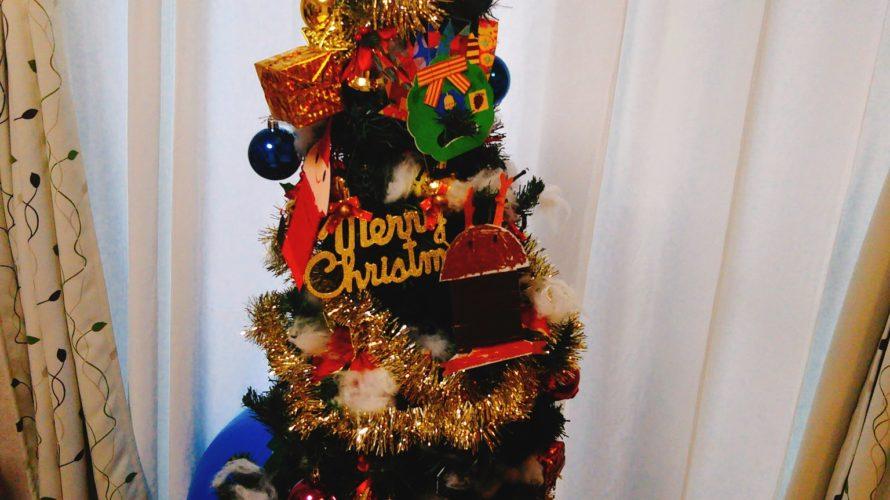 クリスマスツリーの飾りつけ